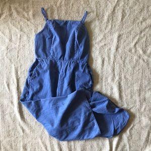 Size small petite chambray jumpsuit